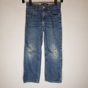 Mini Boden Distressed Straight Leg Jeans